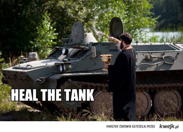 Heal the tank