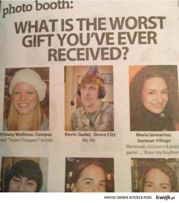 najgorszy prezent