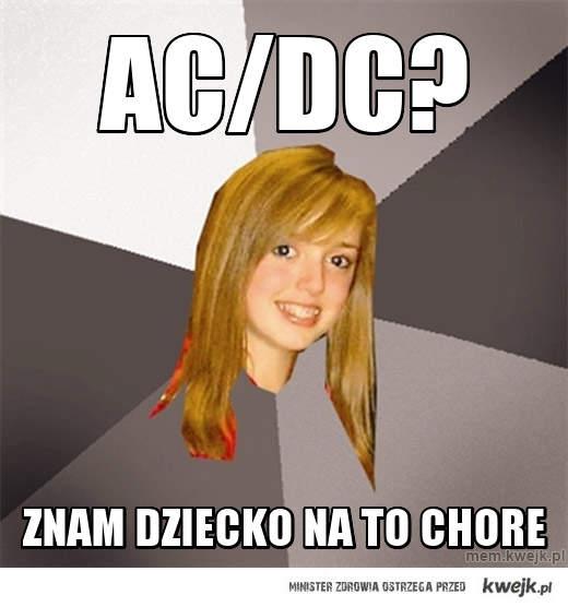 dziecko chore na AC/DC