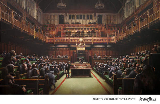 Banksy, Małpi parlament