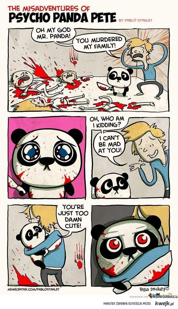 psycho cute panda