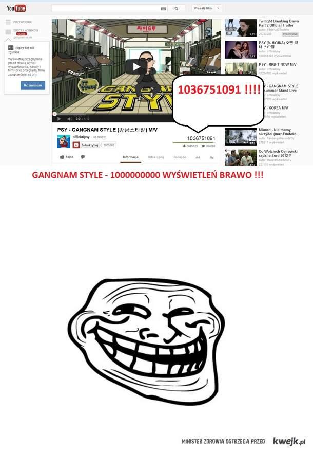 Gangnam Style rekord youtube