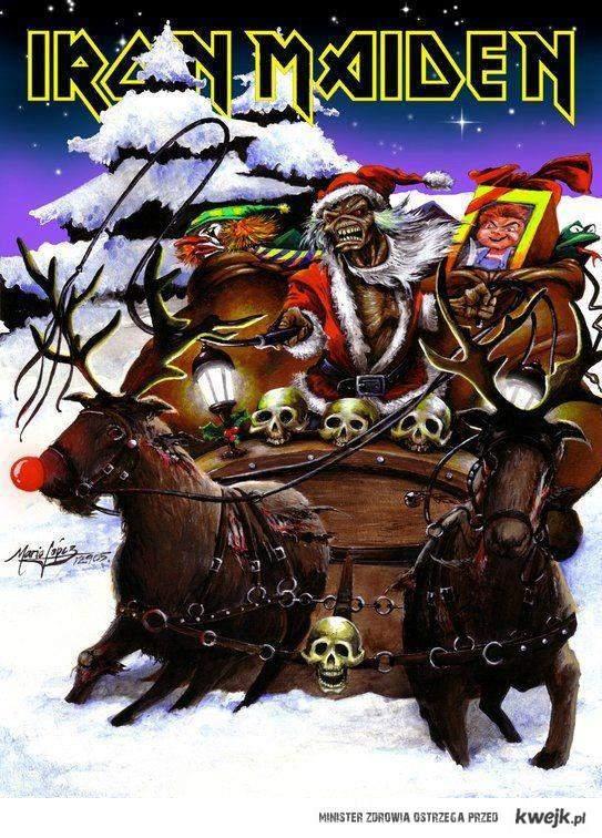 świątecznie Iron Maiden
