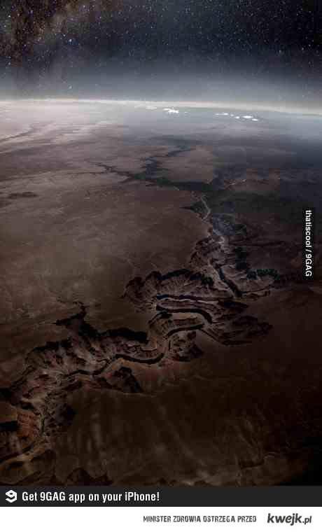 Wielki Kanion widziany z kosmosu.