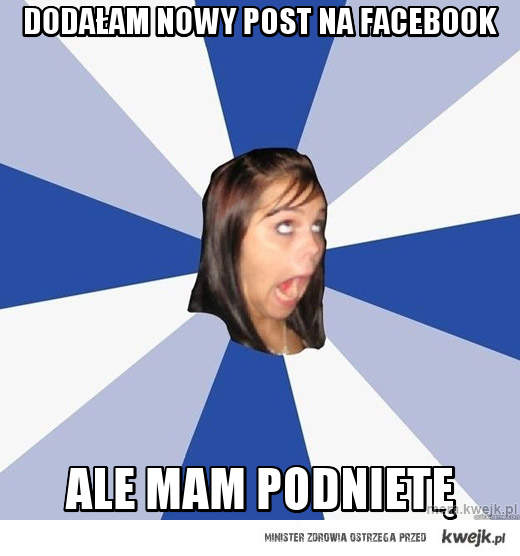 dodałam nowy post na facebook