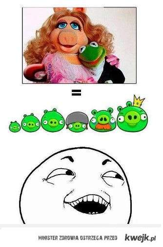 angry birds i muppety xD