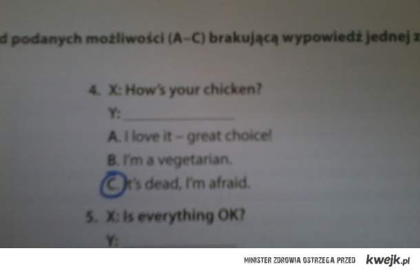 Angielski ;)