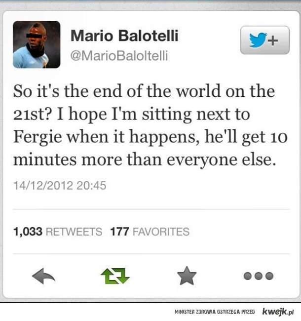 Balotelli o końcu świata