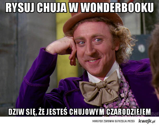 rysuj chuja w Wonderbooku