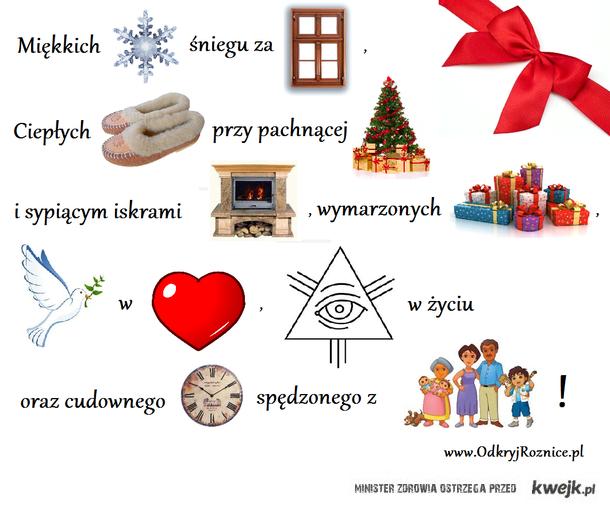 świąteczne życzenia rebus