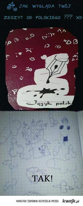 zeszyt od polskiego
