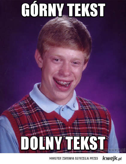 górny tekst