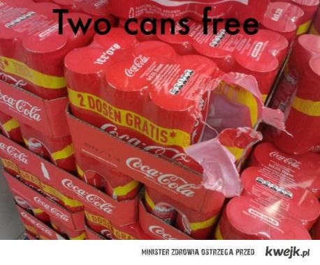 dwie puszki gratis
