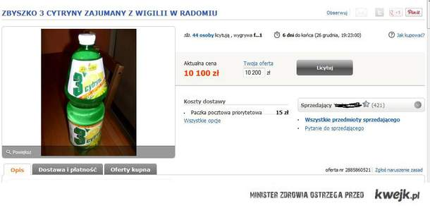 aukcja allegro zbyszko