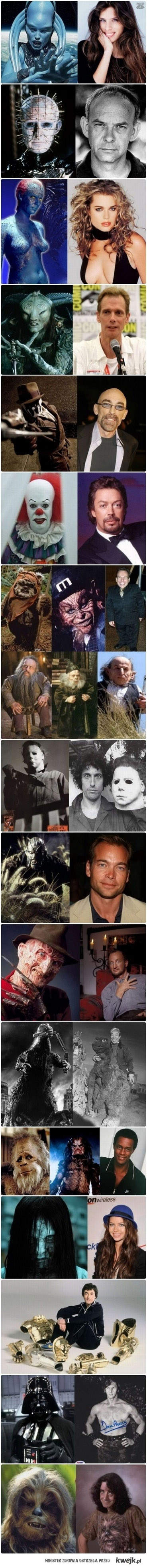 sławne postaci i aktorzy