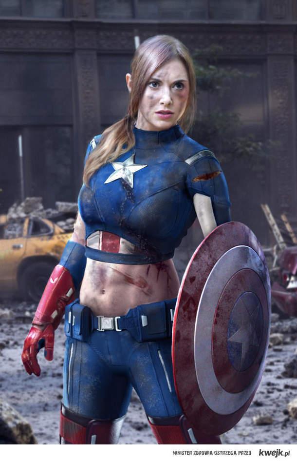 Kapitan Ameryka w wersji kobiecej