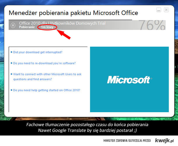 Fail Menadżer MS Office