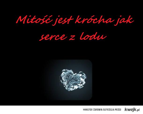 Porównanie Miłości do serca z lodu