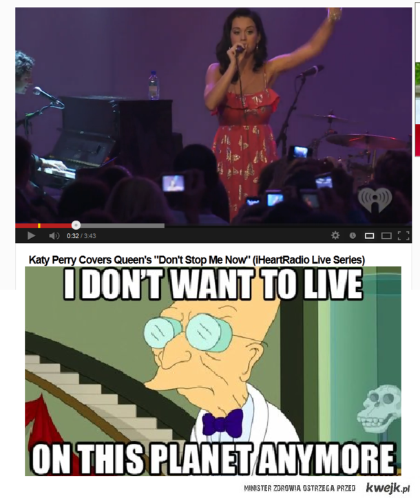 I don't want on this planet anymore. †
