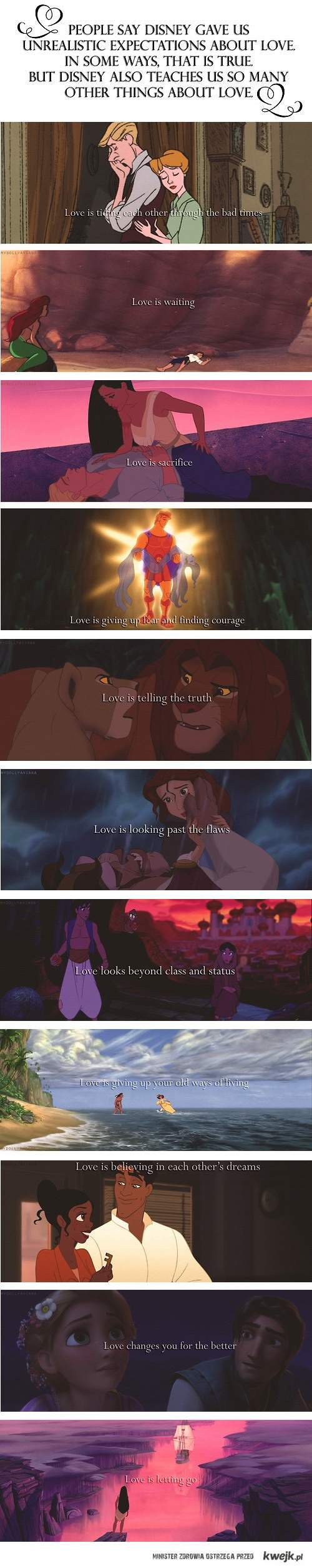 miłość w Disney