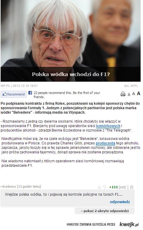 Polska wodka w F1
