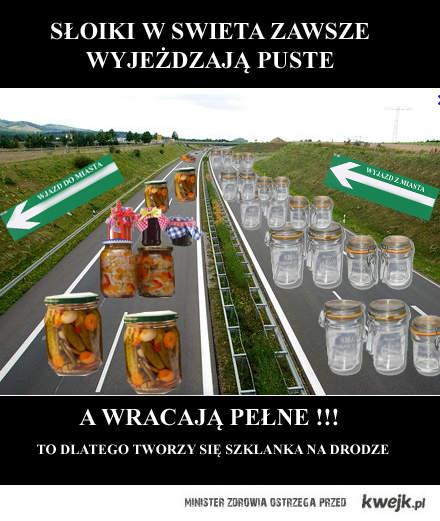 Szklanka na drodze
