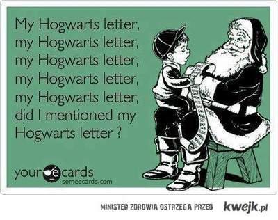 My Hogwarts letter