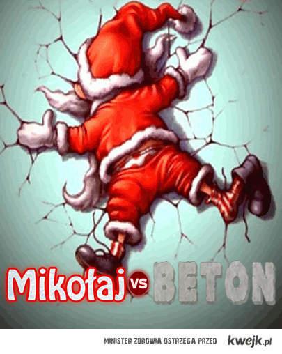 Mikołaj vs beton