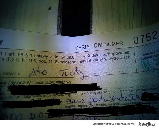 Sto złoty... Polska policja