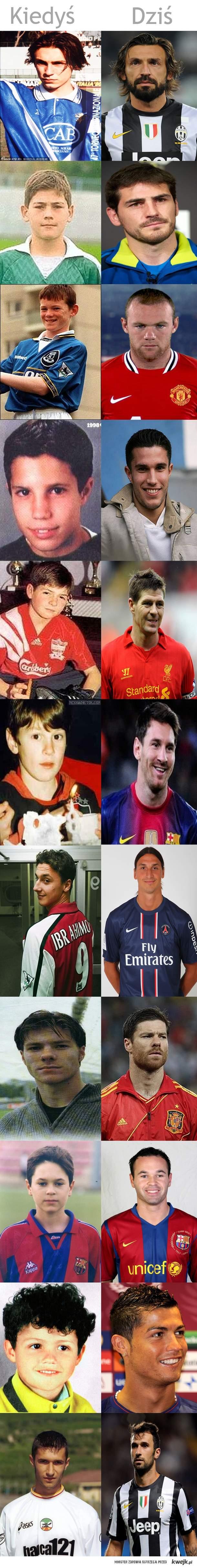 Gwiazdy piłki nożnej, kiedyś i dziś