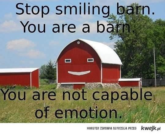 stop smiling