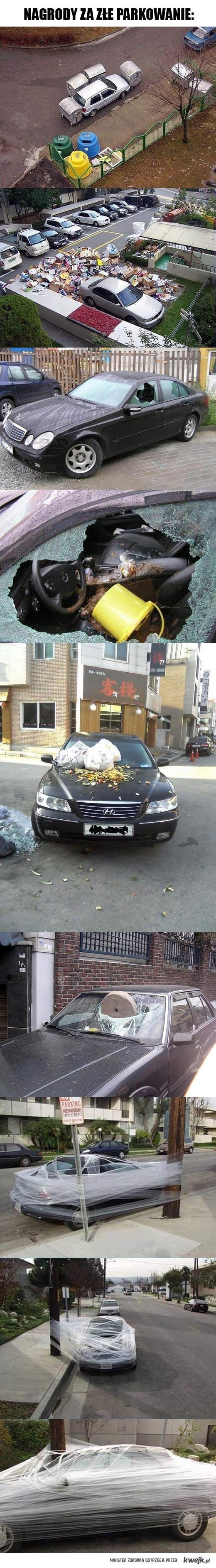 Za złe parkowanie