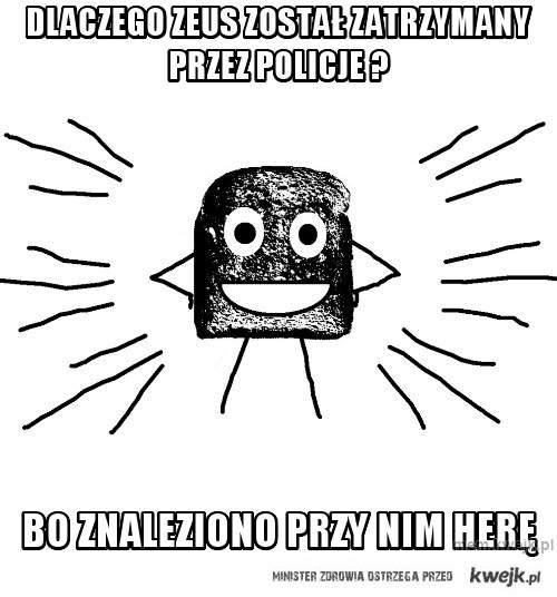 Dlaczego Zeus został zatrzymany przez policje ?