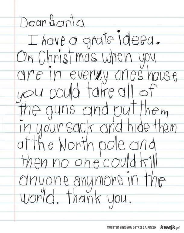 List małego amerykanina