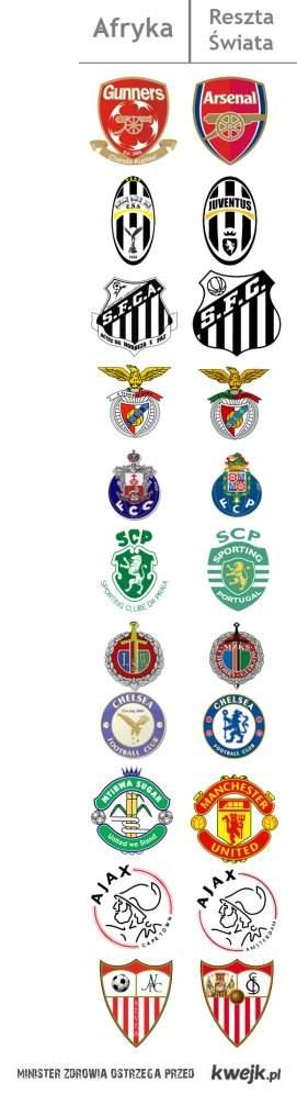 Loga afrykańskich klubów, coś wam przypominają?