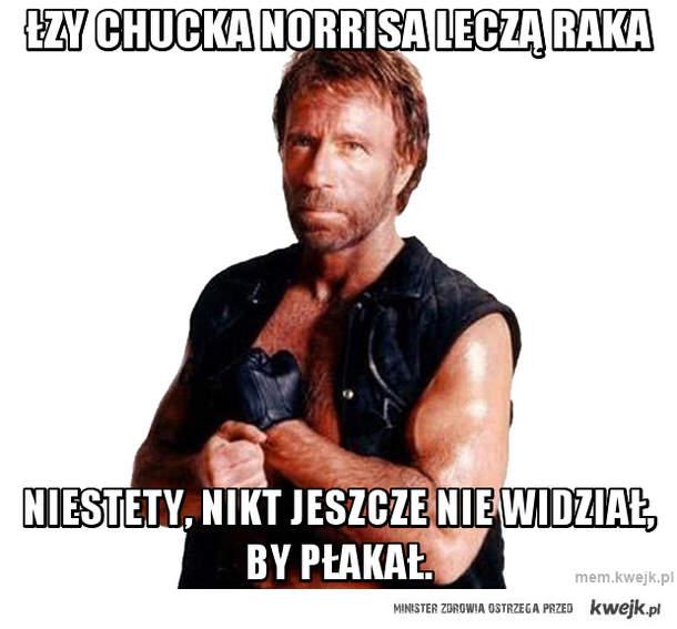 Łzy Chucka Norrisa leczą raka