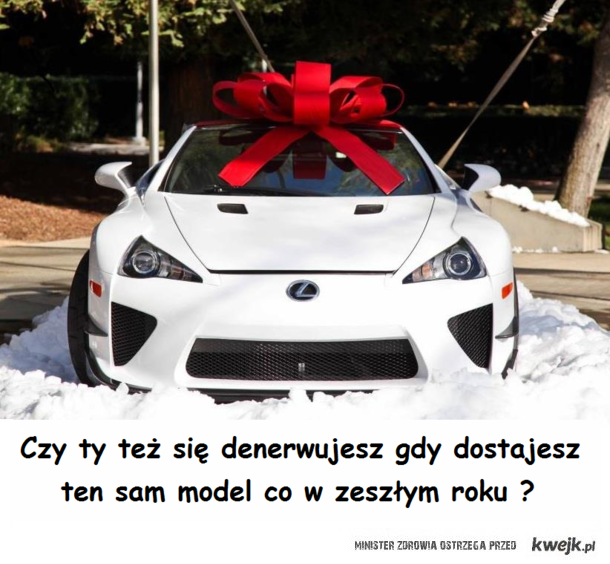 Znowu ten sam LFA pod choinke ...