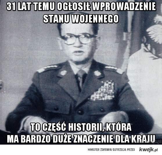 31 lat temu ogłosił wprowadzenie stanu wojennego