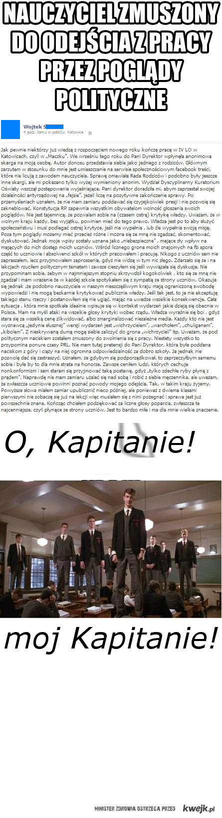 O, Kapitanie, moj Kapitanie!