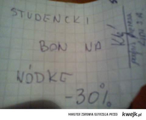 Studencki bon na wódkę
