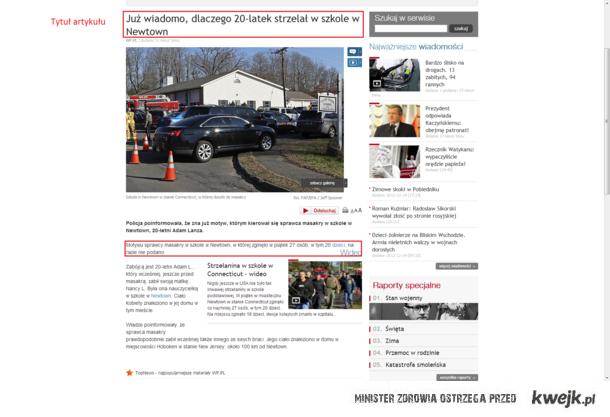 Poziom artykułów na WP.PL