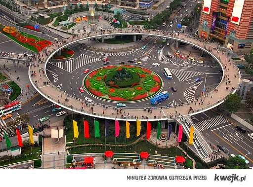Circular Pedestrian Bridge in China