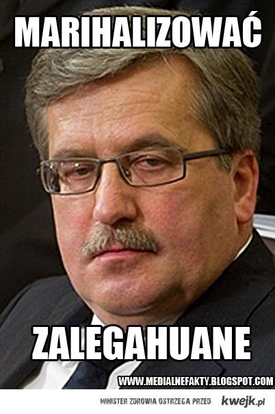 Bronek naprawdę jest za, a nie jak Kwaśniewski - przeciw.