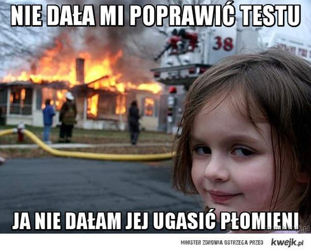 nie dała mi poprawić testu
