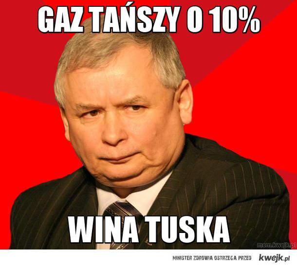 gaz tańszy o 10%