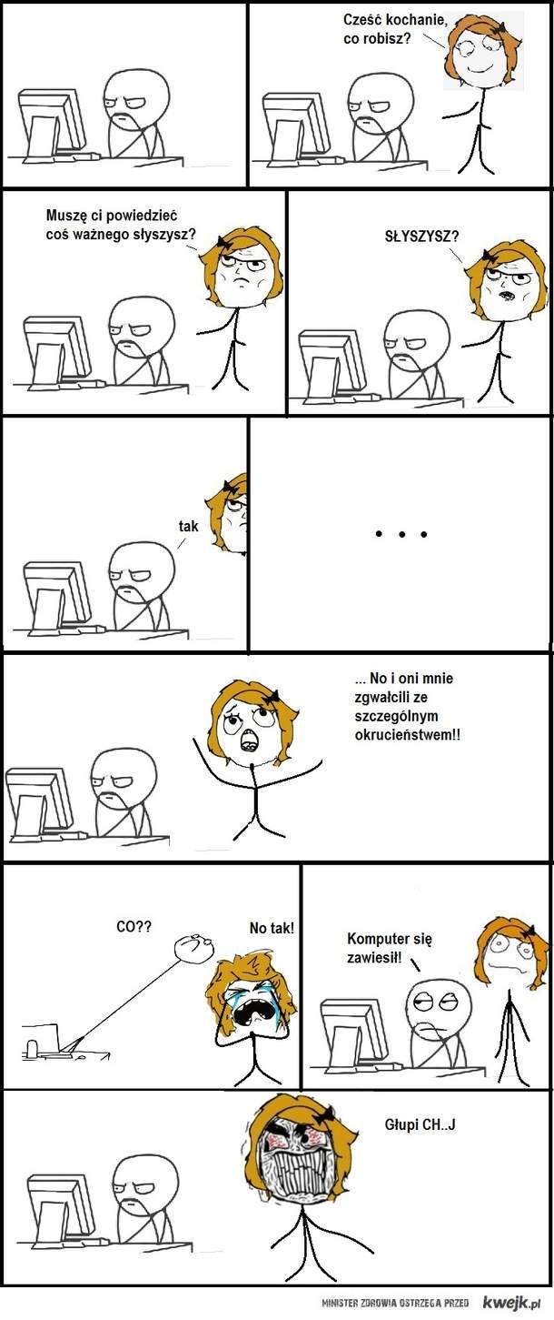 komputer i rozmowa