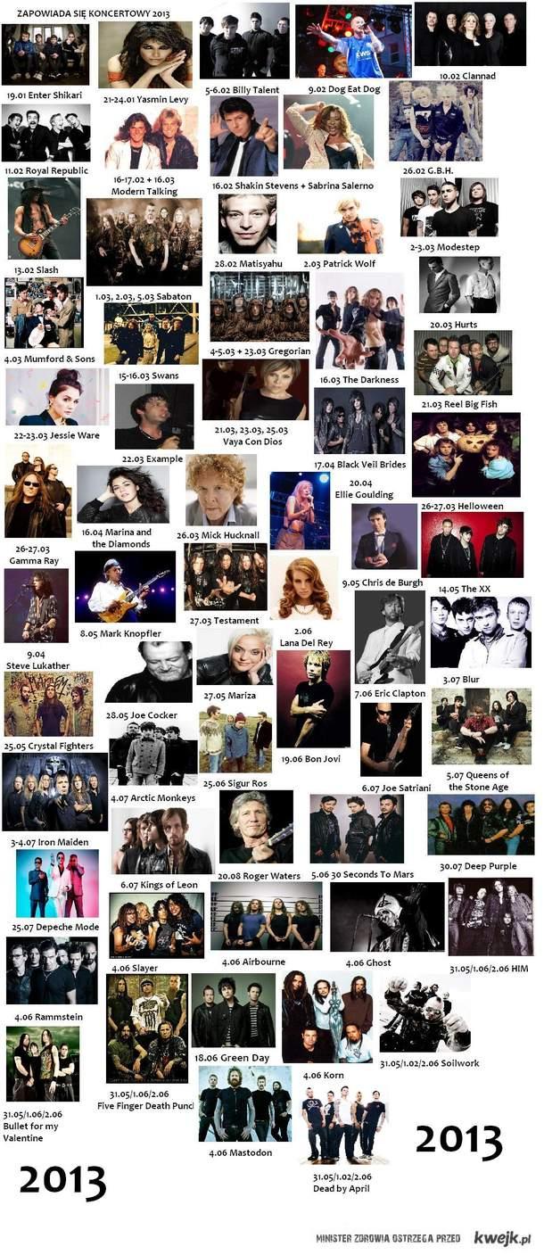 Koncerty w 2013