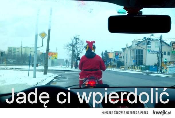 Mikołaj na Skuterze jedzie ci wpierdolić !