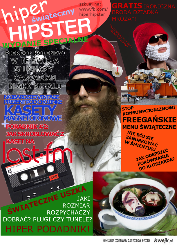 hipster świąteczny