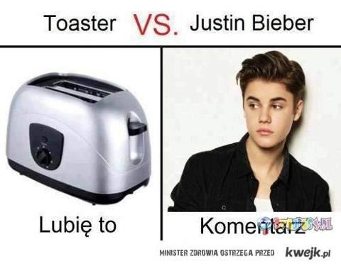 Justin kontra Toster